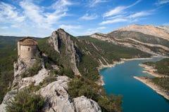 Ermitage de La Pertusa et le Montsec Image libre de droits