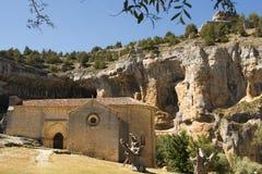 Ermitage de San Bartolome, Ucero, Soria, Espagne Images libres de droits