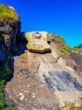 Ermitage de San Juan de Gaztelugatxe en haut de l'?le de Gaztelugatxe Vizcaya, pays Basque et x28 ; L'Espagne photo libre de droits
