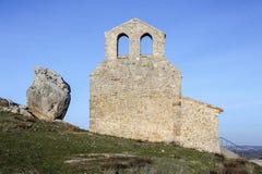 Ermitage de San Miguel, Gormaz Espagne Photos libres de droits