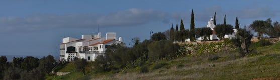 Ermitage de Senhora De Guadalupe et Estalagem de São Gens Photographie stock
