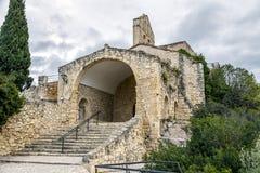 Ermitage de St Peter dans Castellet Catalogne Photographie stock