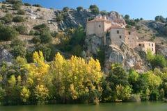 Ermitage of San Saturio, Soria. Castilla y Leon, Spain Royalty Free Stock Photos
