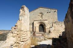 Ermitage von San Frutos, Hoces Del Duraton, Stockfotografie