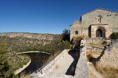 Ermitage von San Frutos, Hoces Del Duraton, Segovia-Provinz, Badekurort Stockfoto