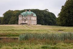 Ermitager hunting palace in Jaegersborg Dyrehave, Denmark stock photography