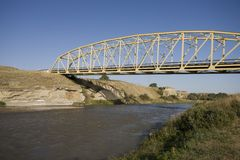 Ermo de Milk River Alberta Fotografia de Stock Royalty Free