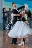 Ermolovich Konstantin e programa padrão de Snegir Anna Perform Youth-2 Imagem de Stock Royalty Free