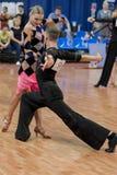 Ermolovich Konstantin and Snegir Anna Perform Juvenile-2 Latin-American Program Royalty Free Stock Photo
