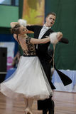 Ermolovich Konstantin and Snegir Anna Perform Youth-2 Standard Program on National Championship Royalty Free Stock Images