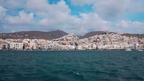 Ermoupolis市口岸,锡罗斯岛海岛,希腊 股票视频
