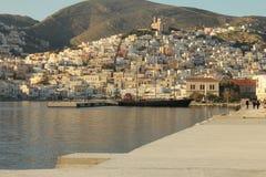 Ermoupolis widok zdjęcie stock