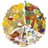 Ernährungspyramide lizenzfreie abbildung