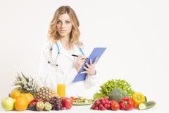 Ernährungswissenschaftler, Diätetiker, Lebensmittel Lizenzfreies Stockbild