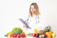 Ernährungswissenschaftler, Diätetiker, Lebensmittel Lizenzfreie Stockbilder