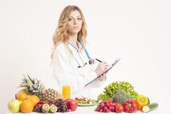 Ernährungswissenschaftler, Diätetiker, Lebensmittel Lizenzfreies Stockfoto