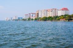 Ernakulam, la parte del continente del Kochi Immagini Stock Libere da Diritti