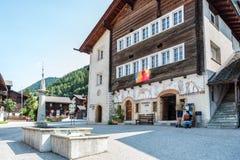 Ernen в кантоне Вале в Швейцарии Стоковые Фото