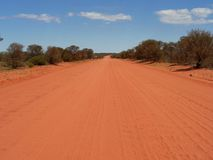 Ernest Giles Road. Driving along the Ernest Giles Road from Alice Springs to Kings Canyon Stock Photo