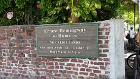 Ernest Hemingway House Fotografia Stock