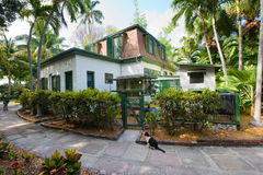Ernest Hemingway house. KEY WEST, FLORIDA, USA - MAY 03, 2016: Building where Ernest Hemingway worked on the compound of the Hemingway House in Key West in Royalty Free Stock Photo