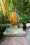 Ernest Hemingway house. KEY WEST, FLORIDA, USA - MAY 03, 2016: Former urinal in the garden of the Ernest Hemingway House in Key West in Florida. It is now used Stock Photos