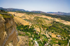 Ernest hemingway point of view. Overlooking the valley in Ronda, Spain Stock Photography