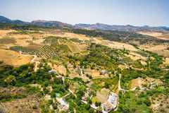 Ernest hemingway point of view. Overlooking the valley in Ronda, Spain Royalty Free Stock Image
