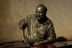 Ernest Hemingway Statue at el floridita. Hemington said, My mojito in the Bodeguita del Medio and my daiquiri in the Floridita He often went to the Floridita to Royalty Free Stock Image