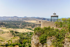 Ernest Hemingway viewing point in ronda Stock Photography