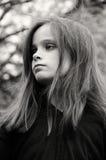 Ernest liten flicka Royaltyfri Foto