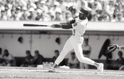 Ernest Riles, Oakland Athletics royalty-vrije stock foto's