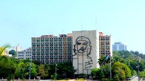 Ernesto Che Guevara. De bouw van het Ministerie. Havana. Stock Foto's