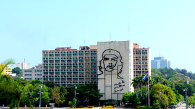 Ernesto Che Guevara. Ministerstwo budynek. Havana. zdjęcia stock
