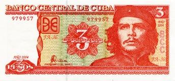 Ernesto Che Guevara op een bankbiljet van Cuba Stock Fotografie