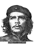 Ernesto Che Guevara portret od Kubańskiego pieniądze fotografia royalty free