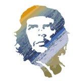 Ernesto Che Guevara, ritratto variopinto nello stile acquerello Vec Immagine Stock