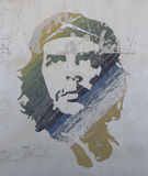 Ernesto che guevera street art in cuba habana. Ernesto che guevera's portrait can be found in the street of  cuba habana Stock Images