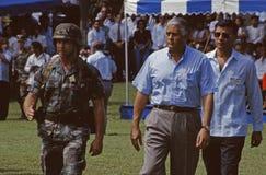 Ernesto Perez Balladares Panama City 1996 Fotos de archivo libres de regalías
