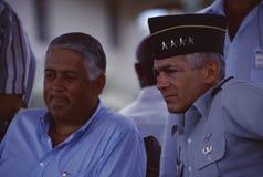 Ernesto Perez Balladares parle au Général Wesley Clark de l'armée américaine Images libres de droits