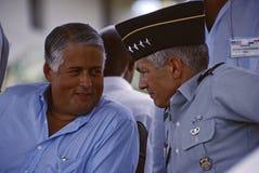 Ernesto Perez Balladares y Wesley Clark Fotografía de archivo