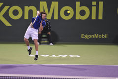 Ernests Gulbis in the ATP tennis Royalty Free Stock Image