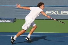 Ernests Gulbis: Pro Tennis Player Backhand Royalty Free Stock Photography
