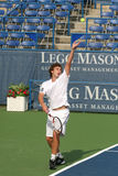Ernests Gulbis: Pro Tennis Player Serve Stock Image