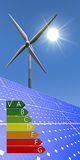 Erneuerbare Energie - Energieaufkleber Lizenzfreies Stockfoto