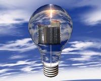 Erneuerbare Energie während der Zukunft, zum von pollutio zu verringern Stockbilder