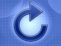 Erneuern Sie blaue Pfeilabbildung Lizenzfreie Stockfotos