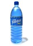 Erneuernsodagetränk in der Plastikflasche Stockfotografie