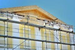 Erneuerung der Fassade des Gebäudes Lizenzfreie Stockfotos