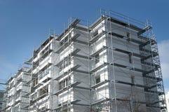Erneuerung eines alten Gebäudes Stockfotografie